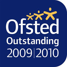OFSTED Outstanding 2009-2010 Logo